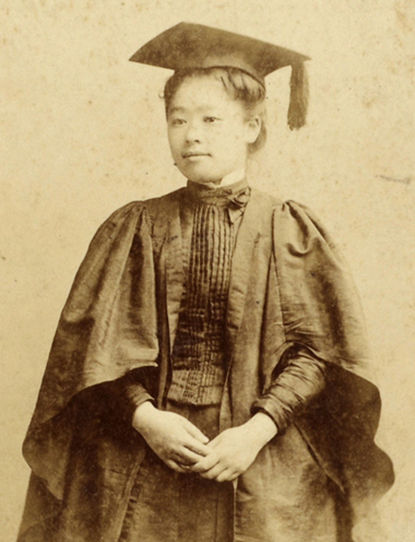 Umeko Tsuda at graduation 1890