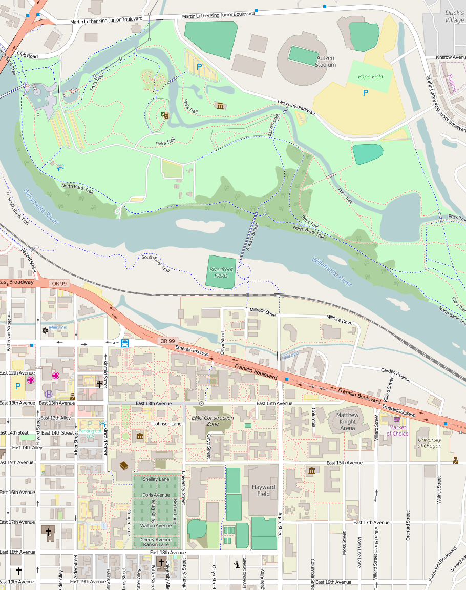 St Johns Campus Map.List Of University Of Oregon Buildings Wikipedia
