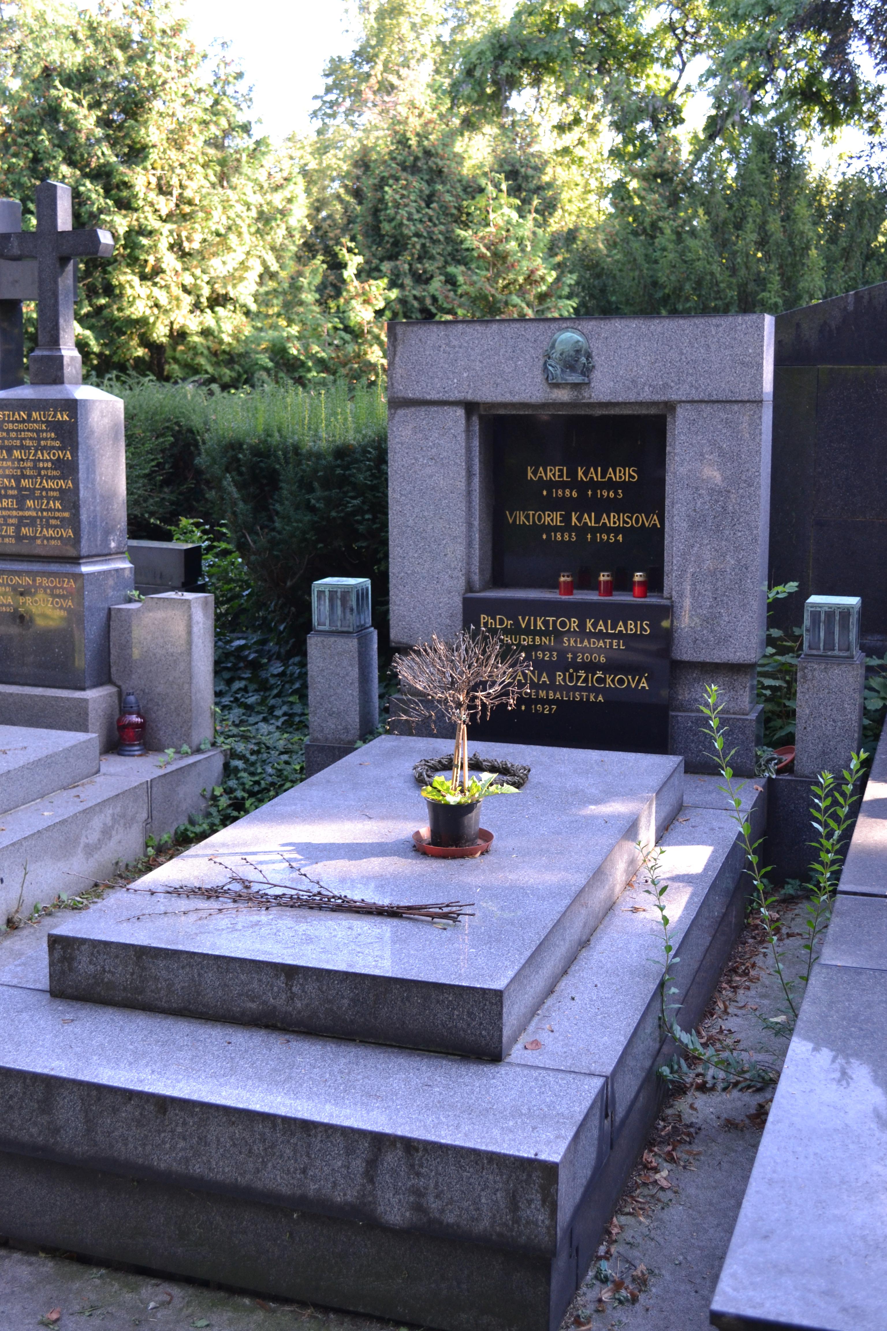 Grave of Kalabis at [[Vinohrady Cemetery