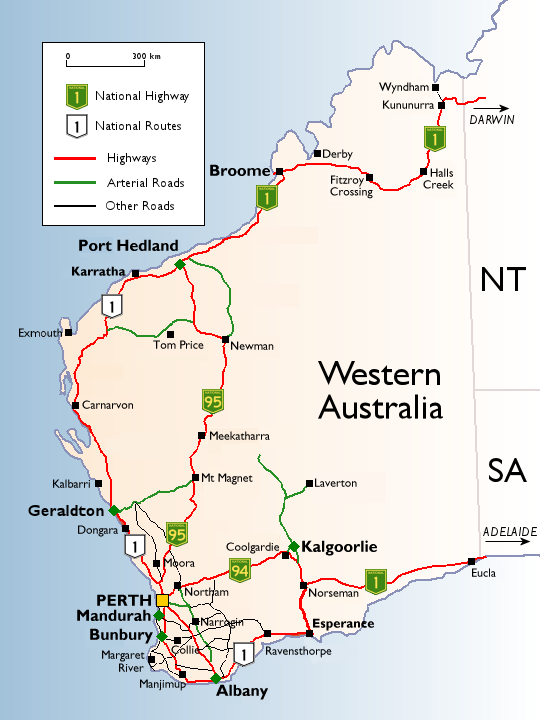 list of road routes in western australia wikipedia