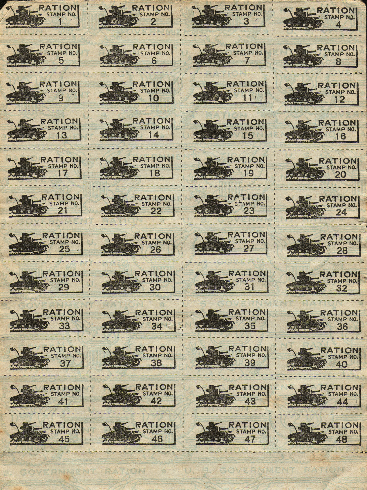Ration coupons wwii
