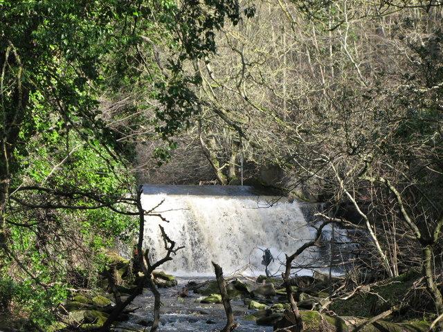 Waterfall on Rookhope Burn - geograph.org.uk - 728887