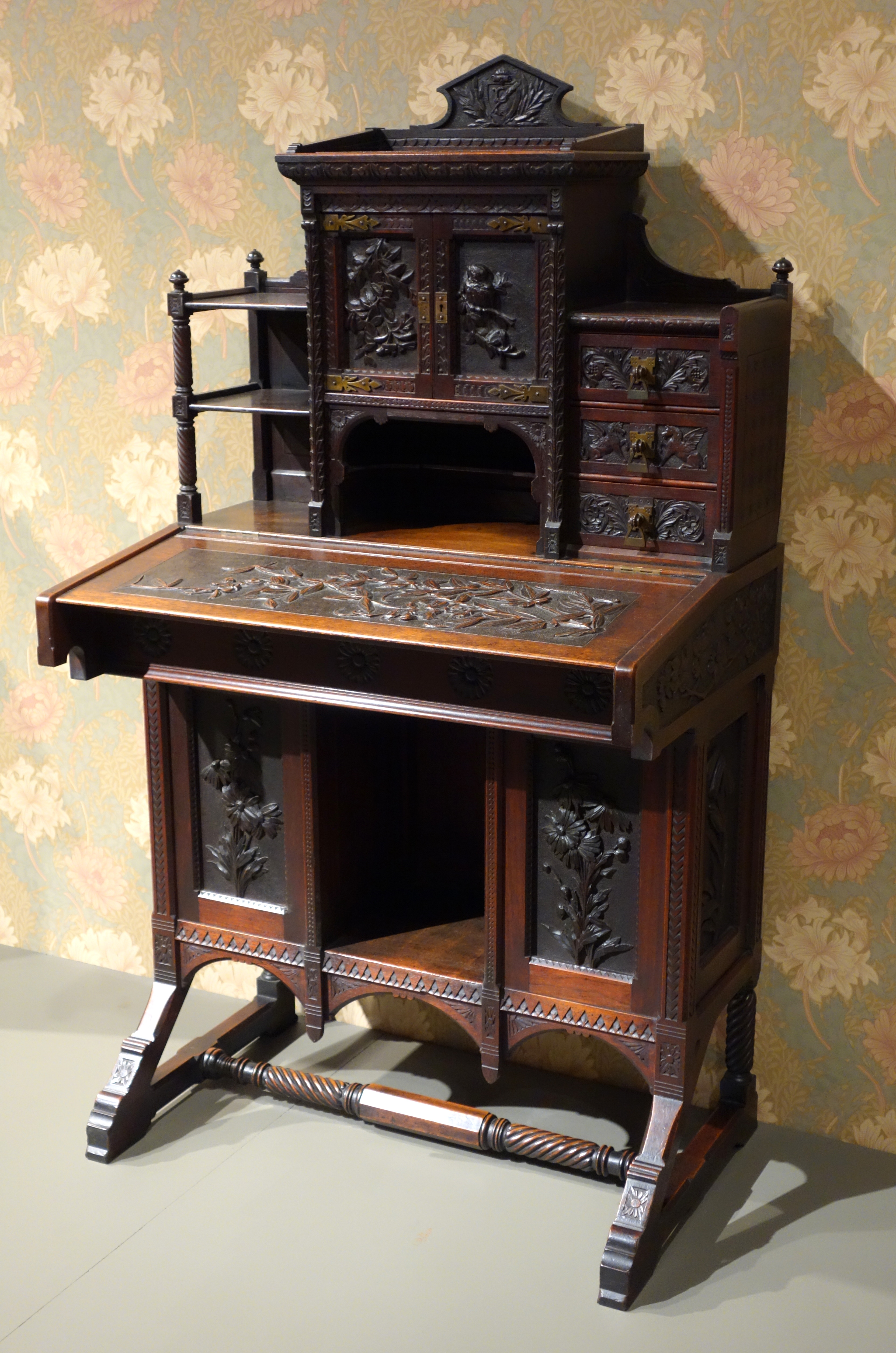 File Writing Desk By Catherine Peachey 1870s American