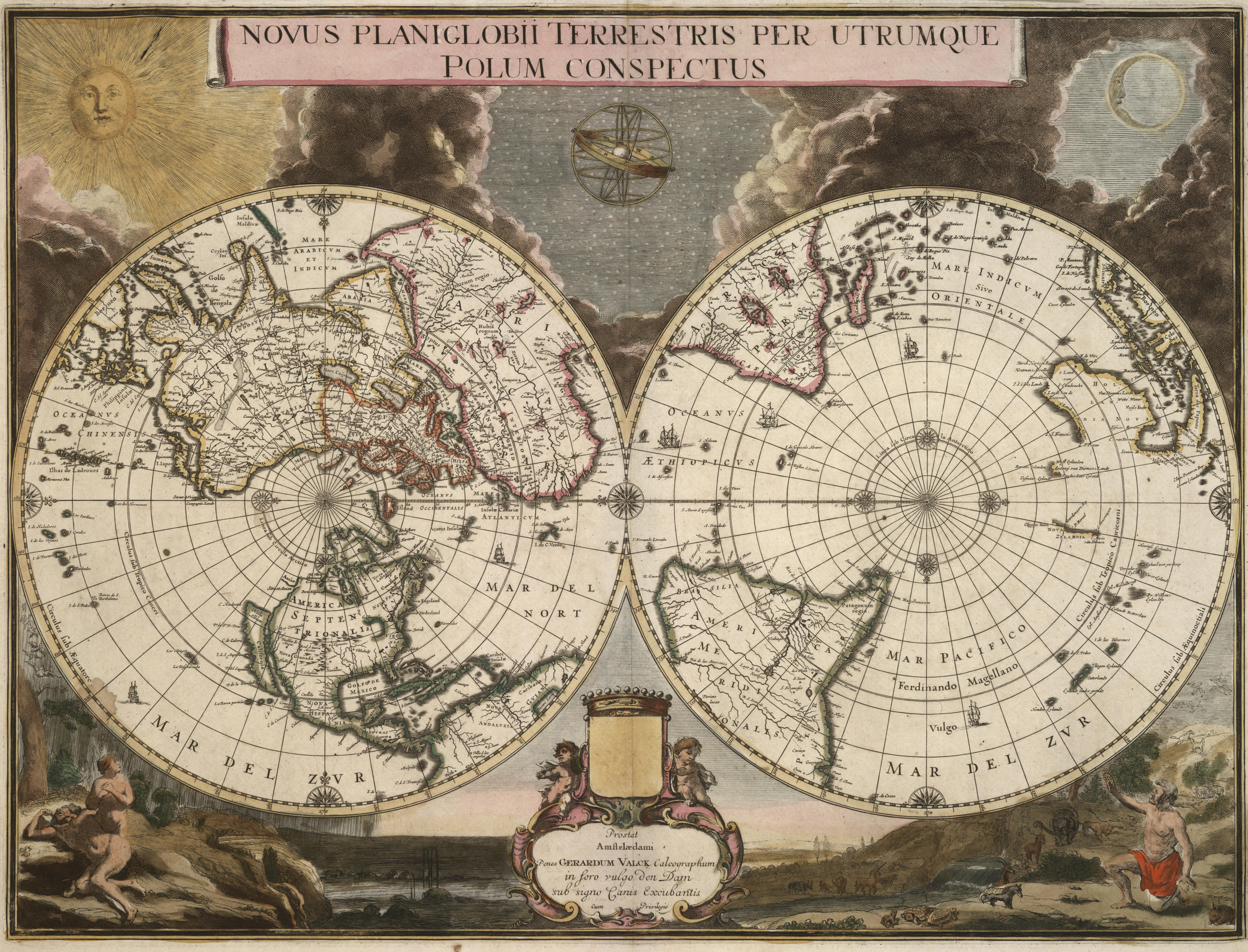 World Map By Peter Schenk The Elder.Gerard Valck Wikipedia