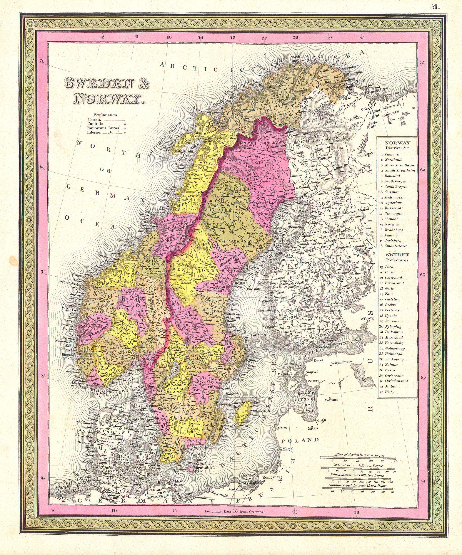 Sweden Map - Map sweden 1650