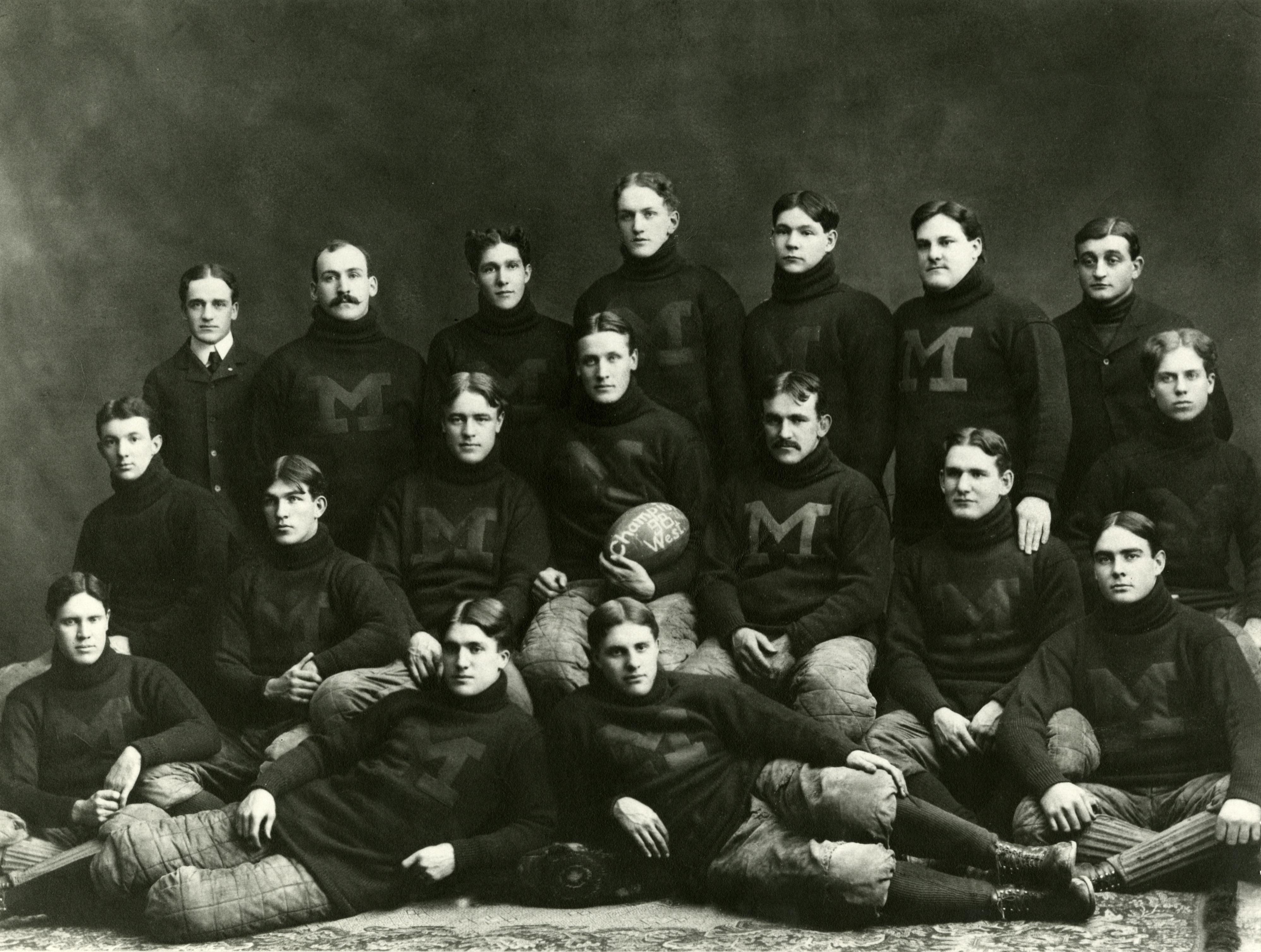 "1893 University of Michigan Football Team Old Photo 13/"" x 19/"" Reprint"