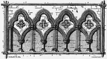 1911 Britannica Arcade Triforium At Beverley