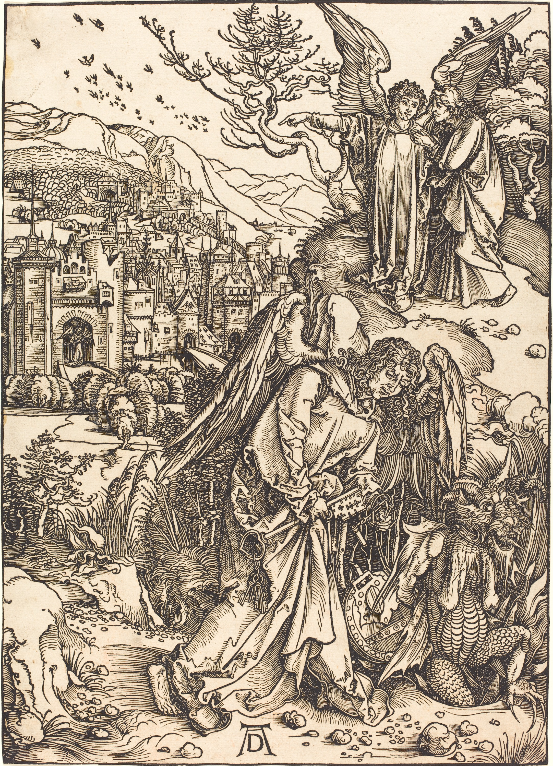 The Angel with the Key to the Bottomless Pit by Albrecht Dürer // Larry Hunt Bible Commentary