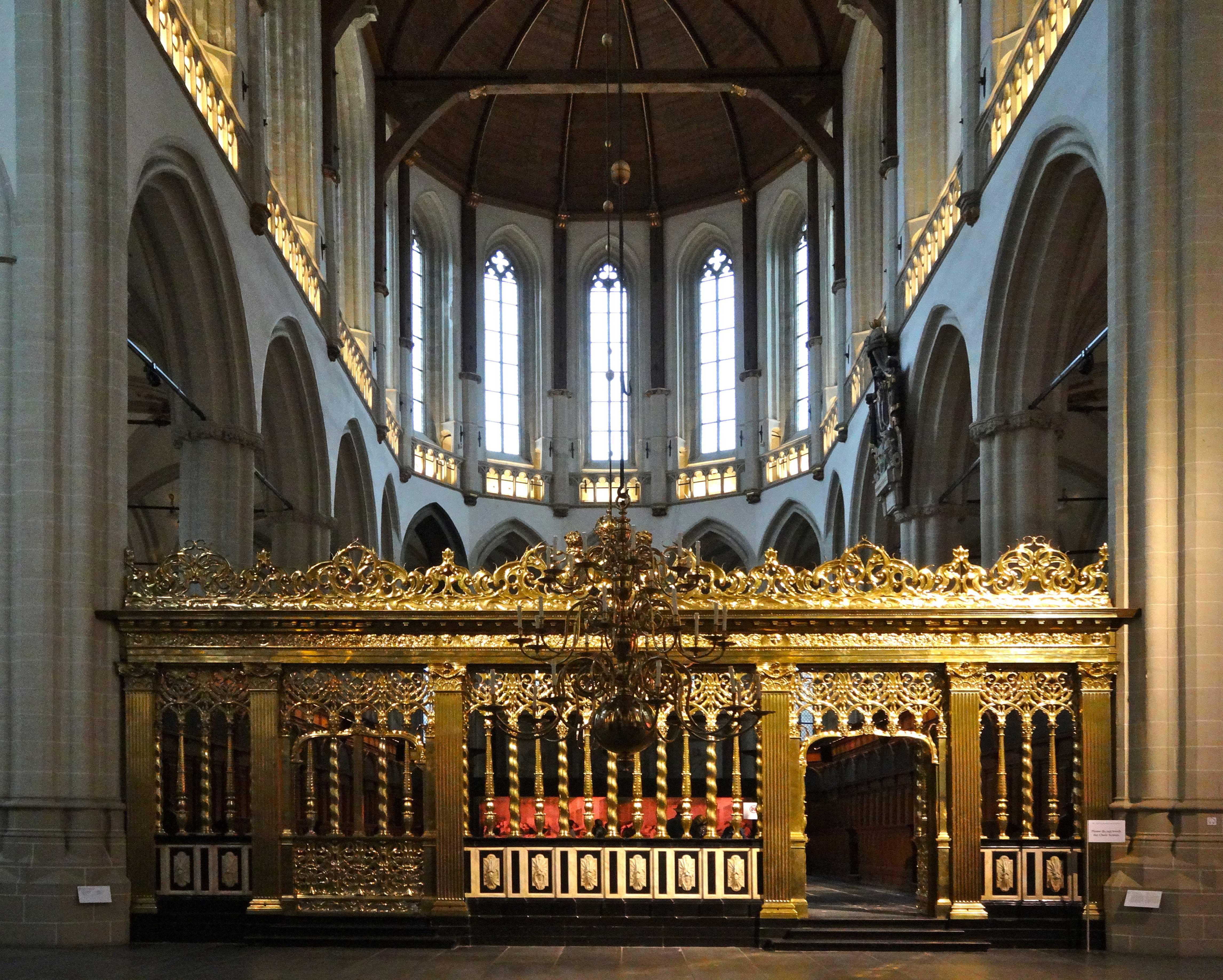 Description Amsterdam Nieuwe Kerk Koorhek jpg