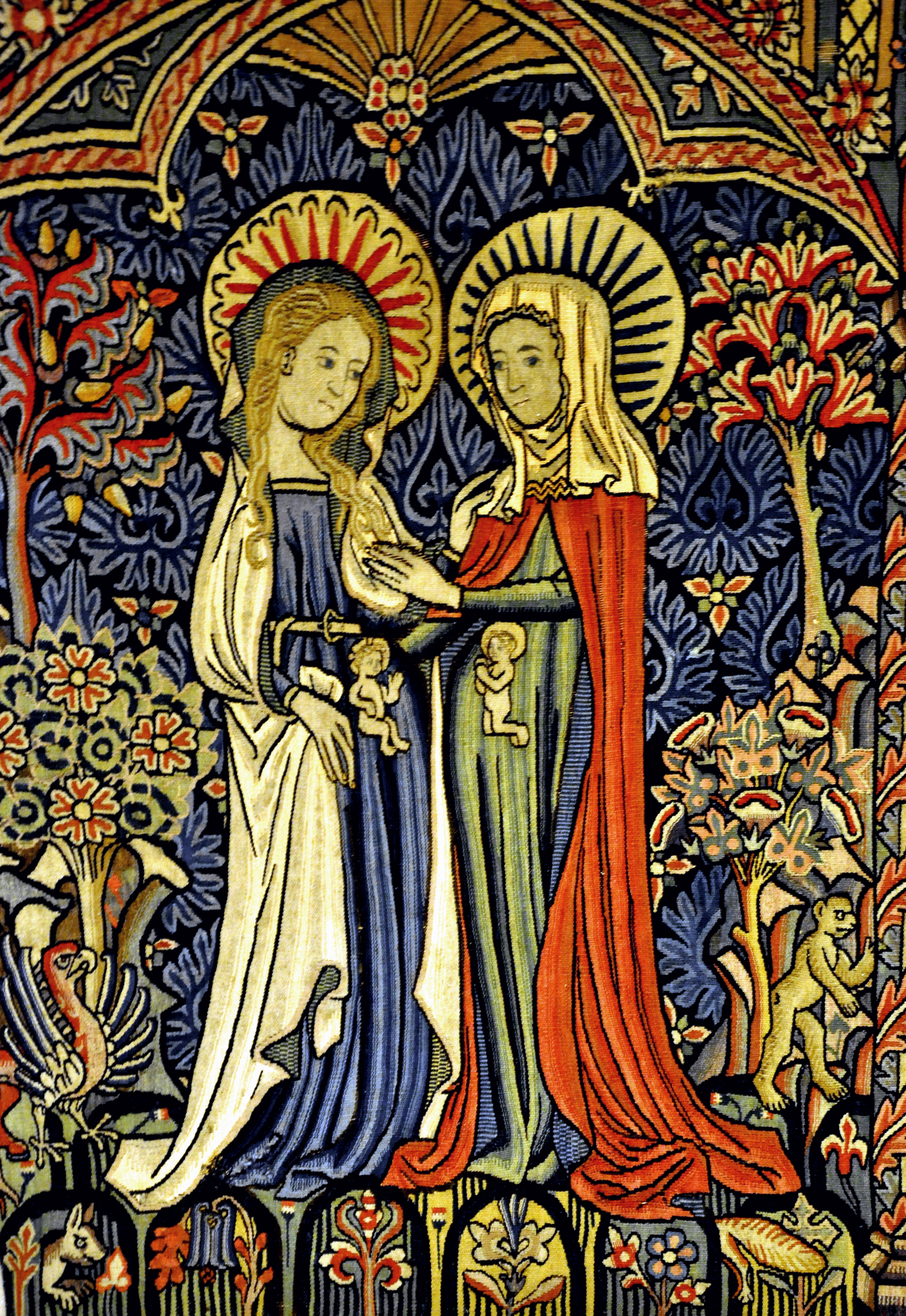 The Virgin Mary and Elizabeth with Jesus and John the Baptist before birth