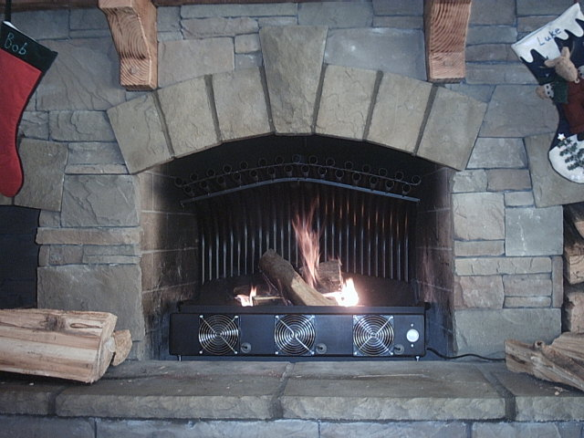 File Arched Double Row Fireplace