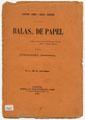 Balas... de Papel, nº 1, 30 de Novembro de 1891, capa.jpg