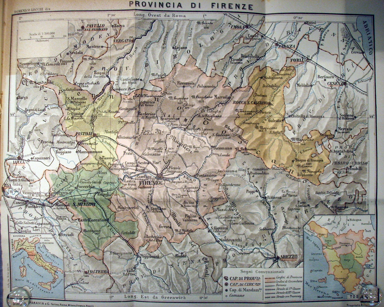 Cartina Geografica Provincia Di Firenze.Romagna Toscana Wikipedia