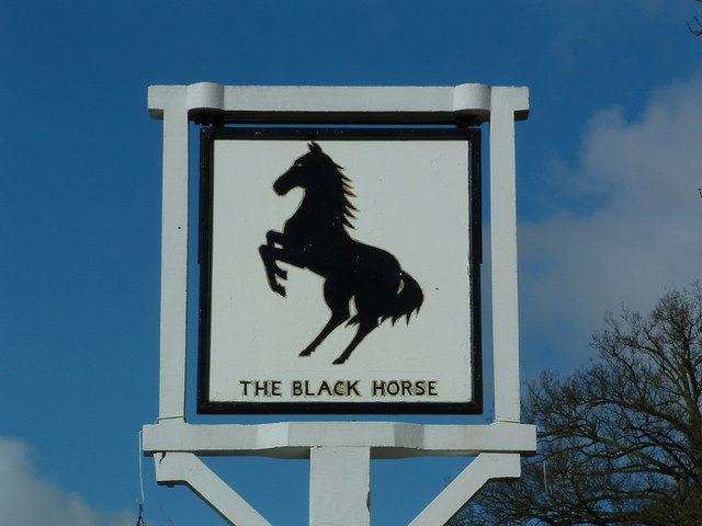 Black Horse pub sign in Checkendon, Oxfordshire