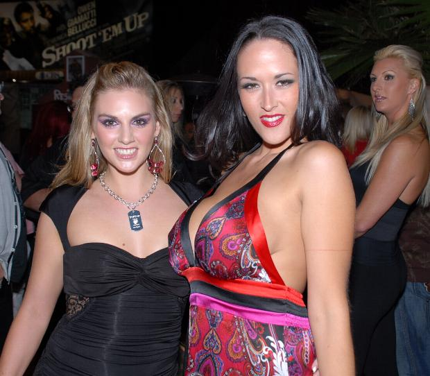 File:Brianna Love and Carmella Bing at Wicked Pictures party 1.jpg