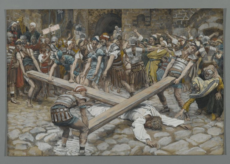 File:Brooklyn Museum - Simon the Cyrenian Compelled to Carry the Cross with Jesus (Simon de Cyrène contraint de porter la Croix avec Jésus) - James Tissot.jpg