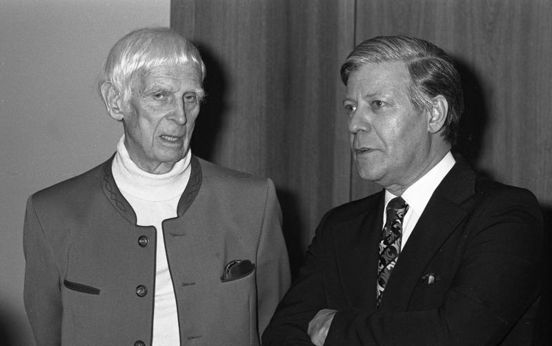 Gerhard Marcks z prezydentem Republiki Federalnej Niemiec Helmutem Schmidtem