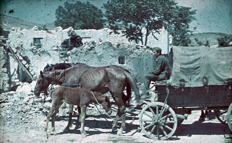 File:Bundesarchiv N 1603 Bild-103, Russland, Krim, Soldat mit Pferdewagen vor Hausruine.jpg
