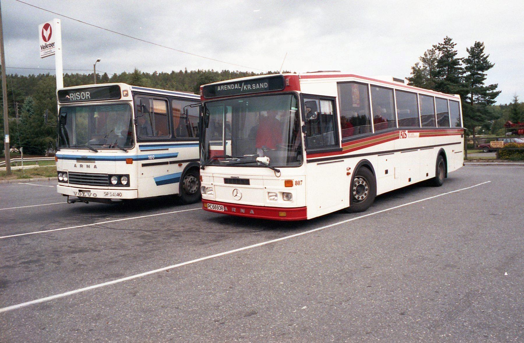 risør arendal buss