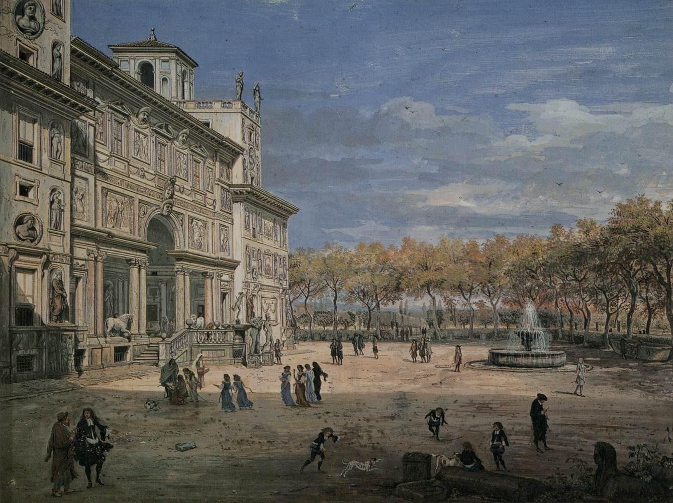 File caspar van wittel villa medici and garden in rome wikimedia commons - Villa medicis rome chambres ...