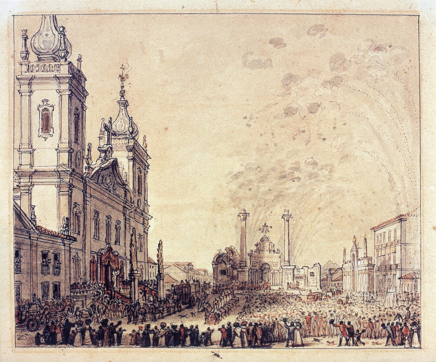 File:Celebration for the return of Emperor Pedro I 1826.jpg