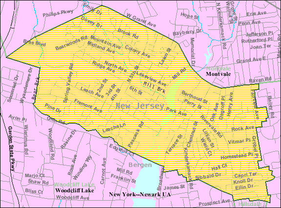 File Census Bureau Map Of Park Ridge New Jersey Png Wikimedia Commons