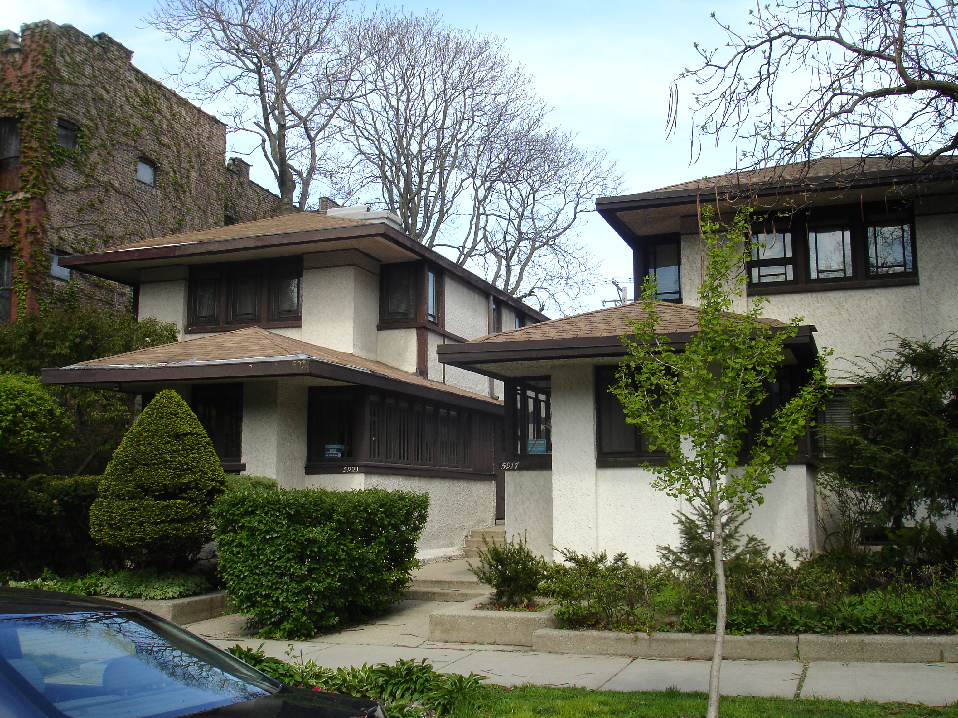 File:Chicago, Illinois Gauler Twin Houses 2.jpg ...