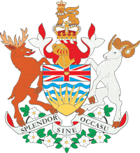 English: Coat of arms of British Columbia