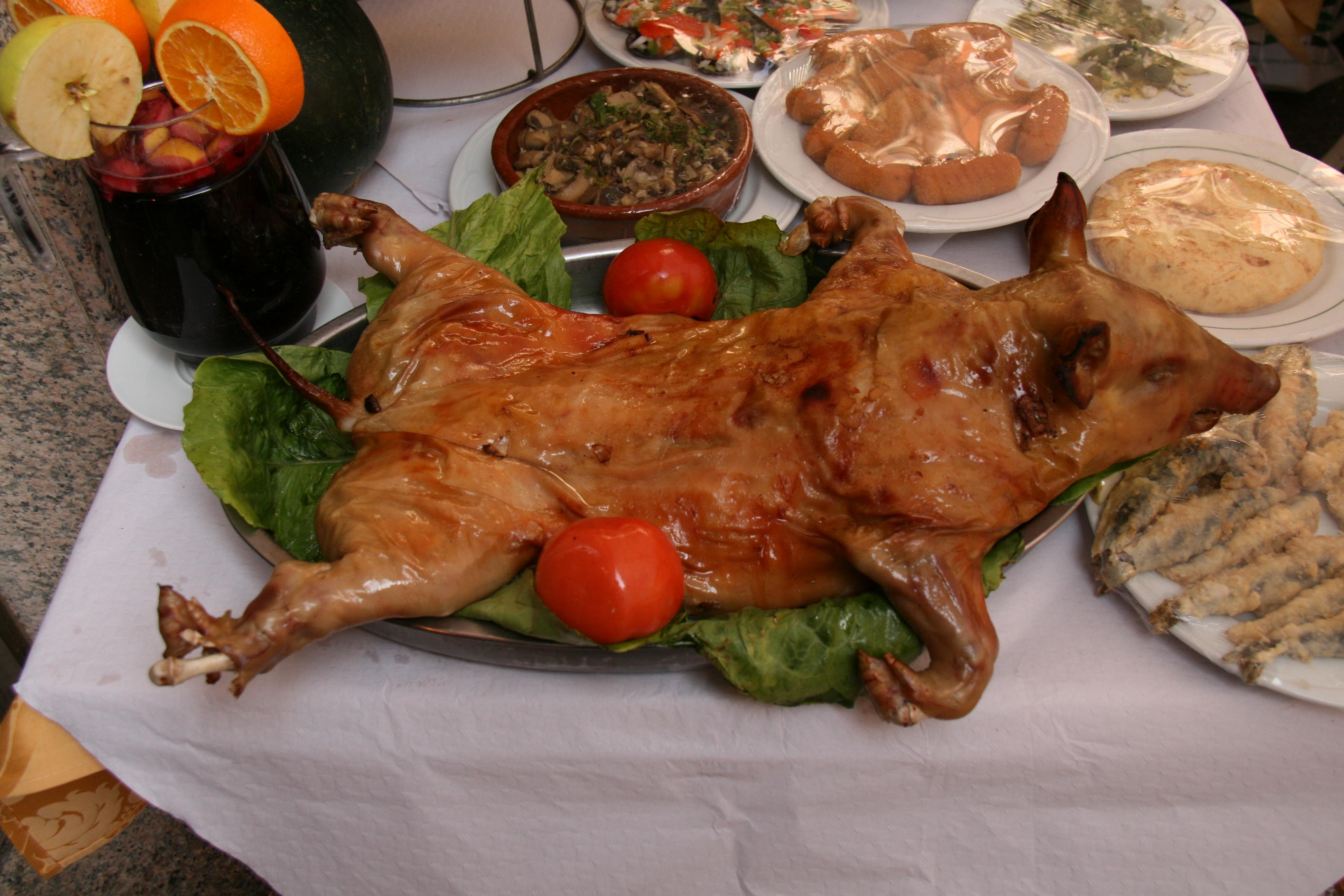 almuerzo erótica lechón en Valladolid