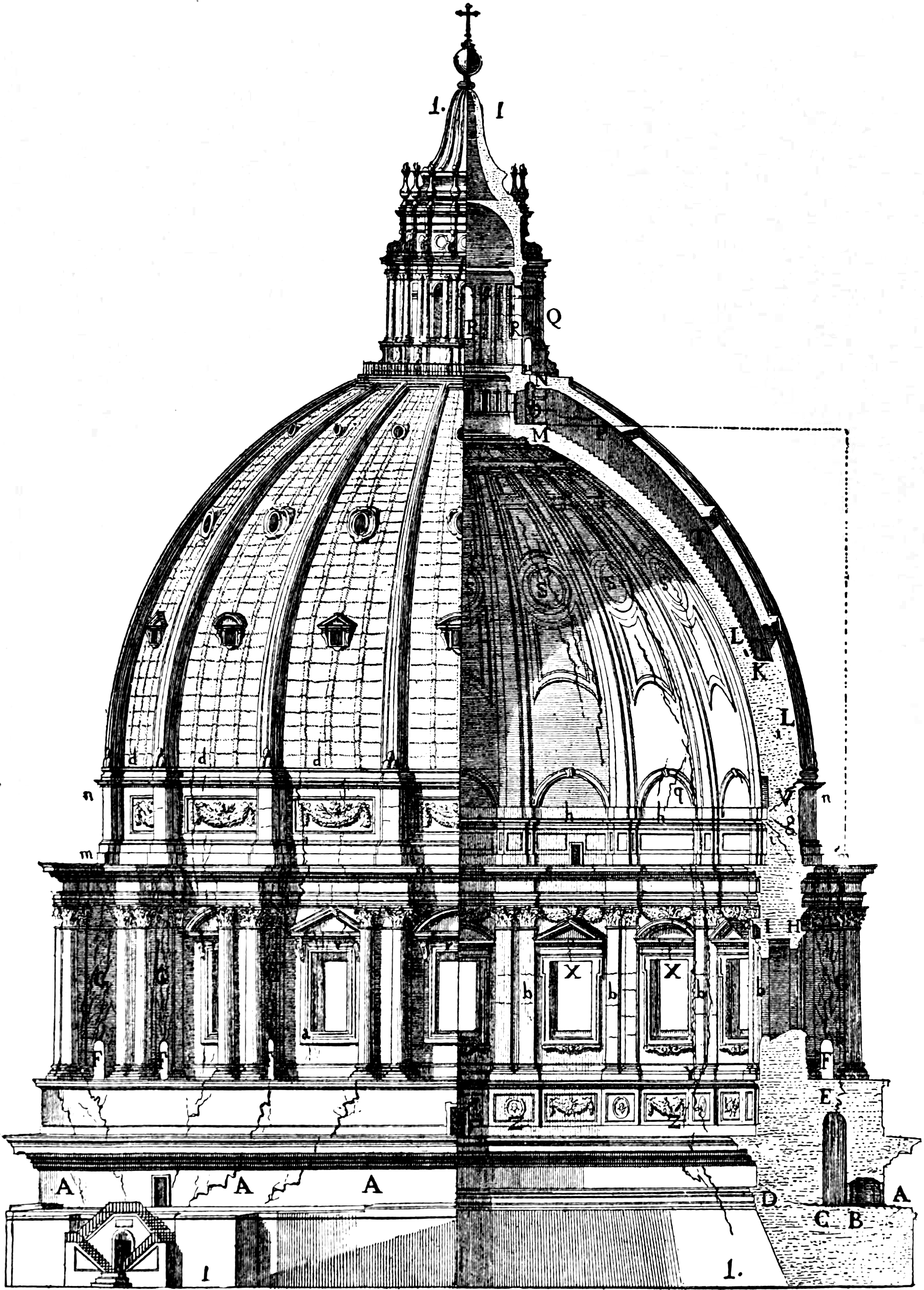 File cupola di s pietro the dome with its ruptures for Architecture definition wikipedia