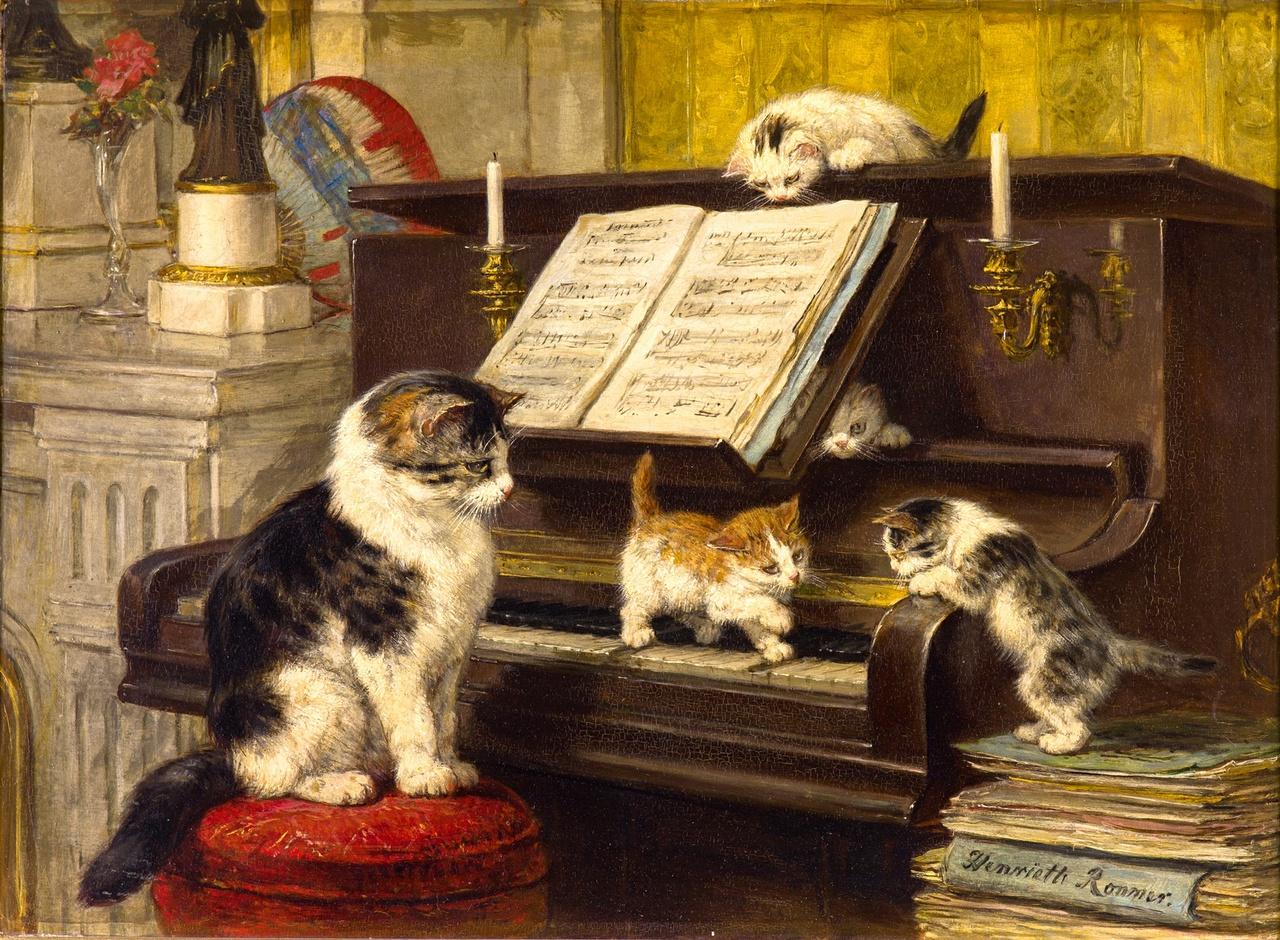 En la historia de los gatos han sido pintados