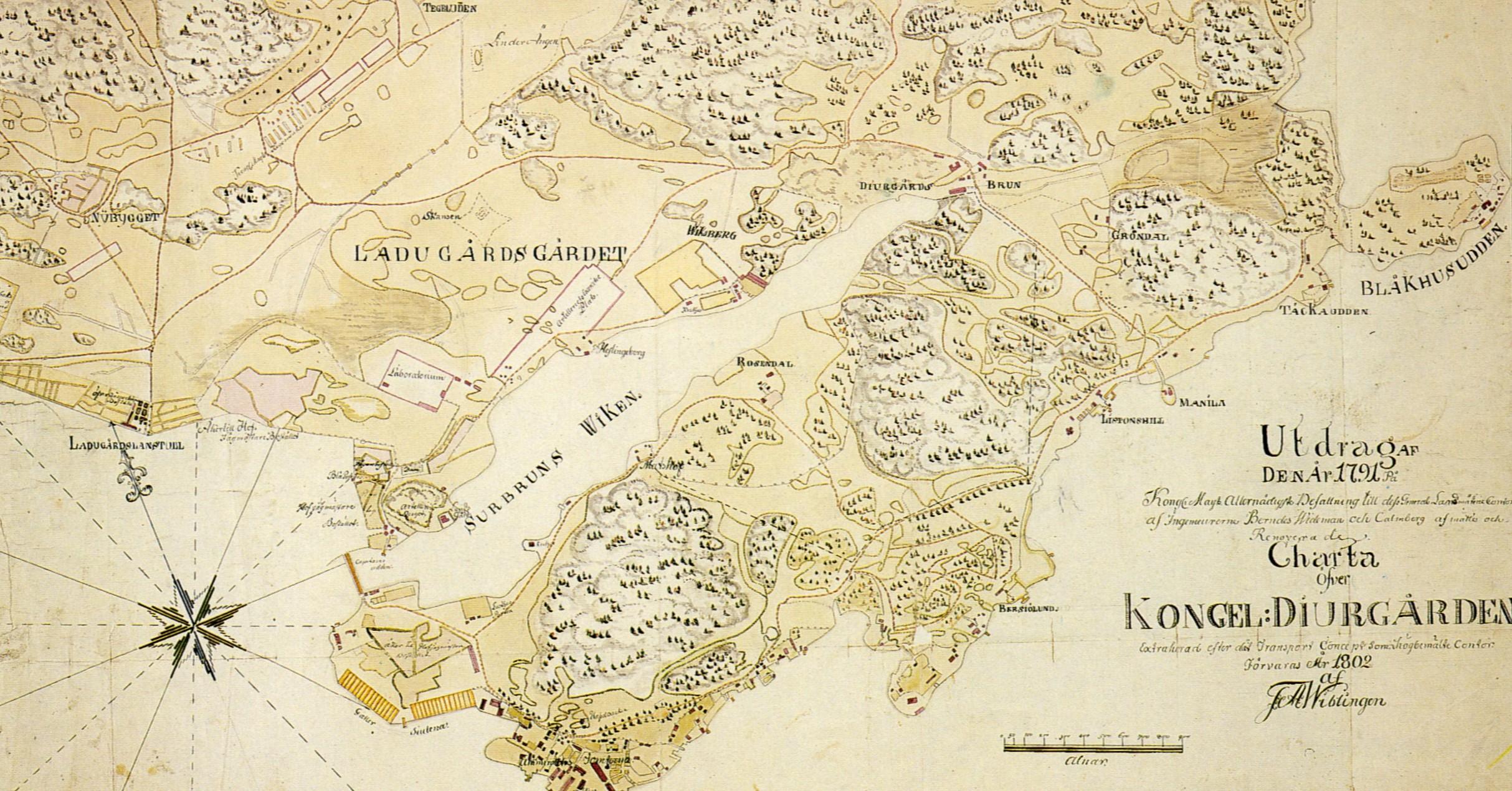 karta djurgården File:Djurgården karta 1802.   Wikimedia Commons karta djurgården