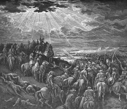 Иисус Навин останавливает Солнце. Гравюра Гюстава Доре
