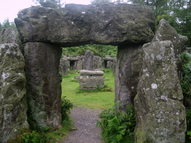 Druid's Temple - a mini Stonehenge - geograph.org.uk - 1419678