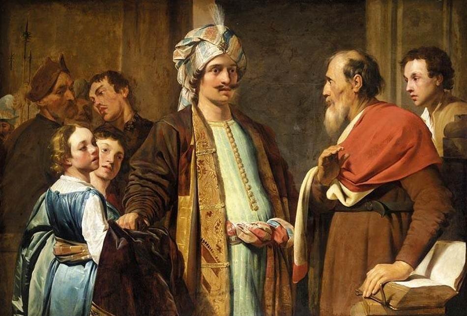Elisha refusing the gifts of Naaman, by Pieter de Grebber 1630