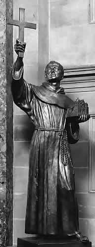 Junípero Serra. Sculpture in The National Statuary Hall