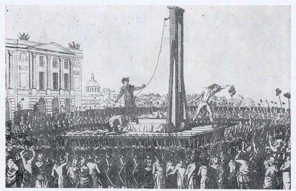 Avrättning i giljotinen