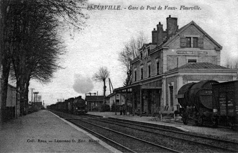 Gare de fleurville pont de vaux wikipedia wolna for Piscine pont de vaux