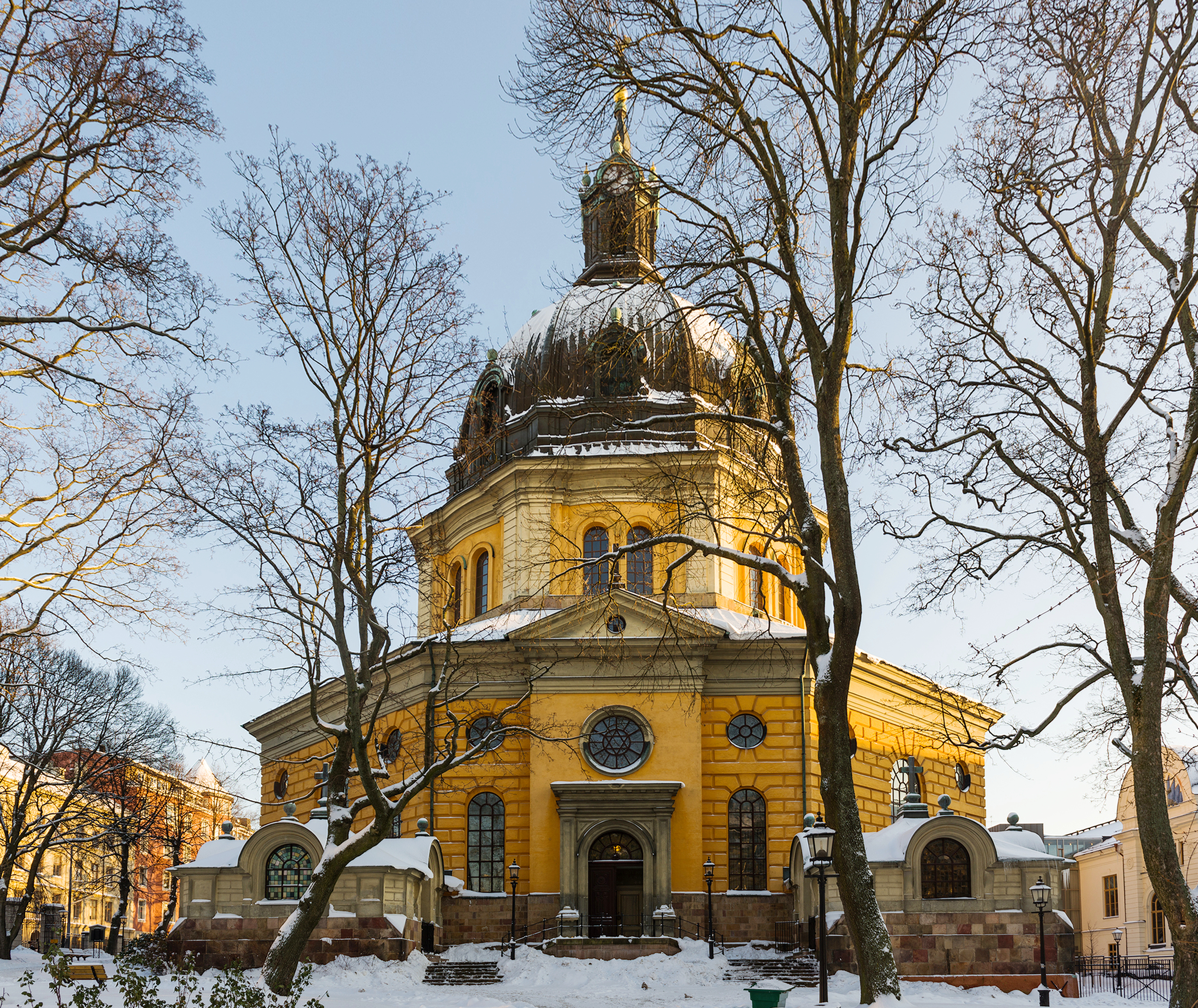 Bild av Hedvig Eleonora kyrka