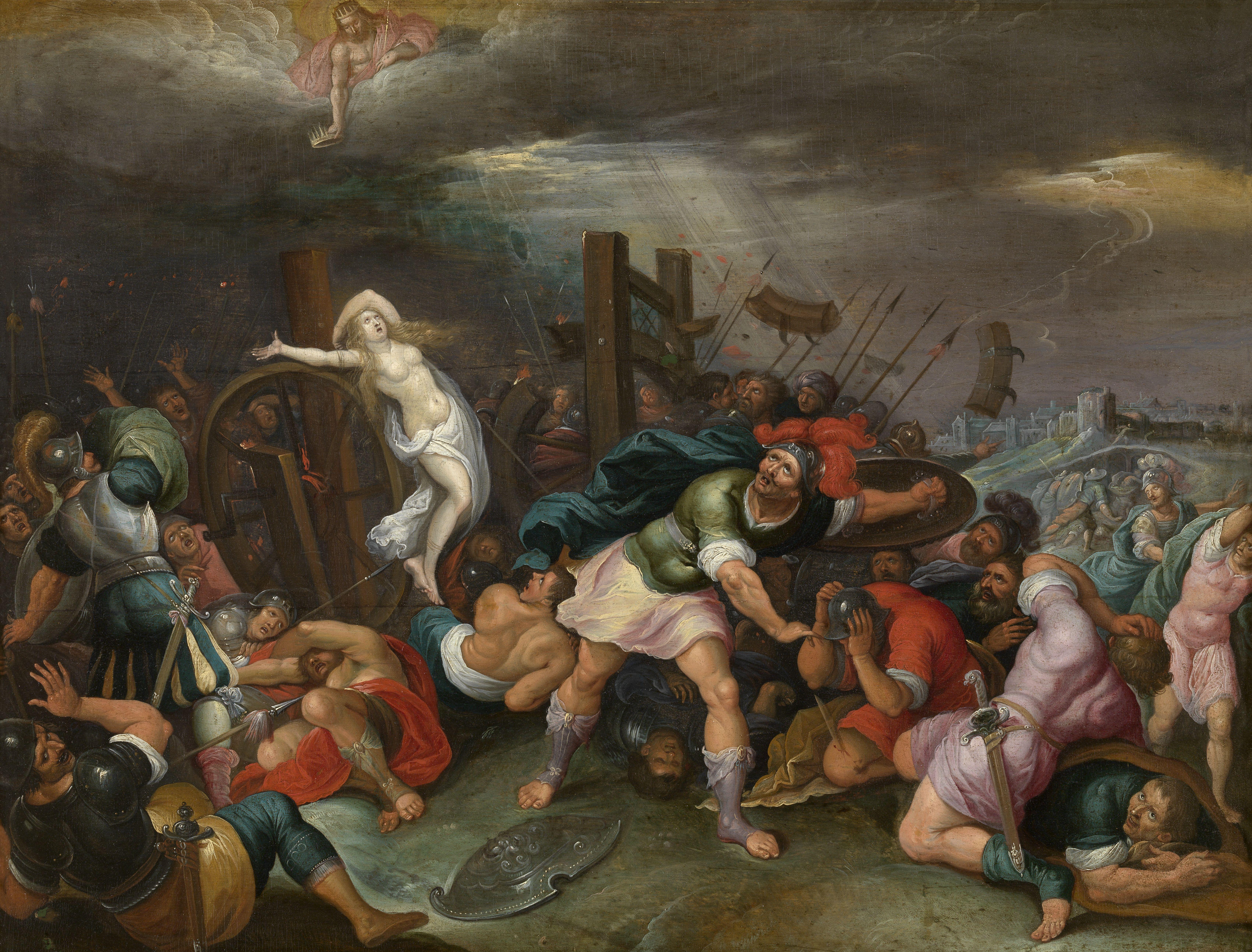 Hieronymus Francken (II) - The Martyrdom of St Catherine of Alexandria.jpg