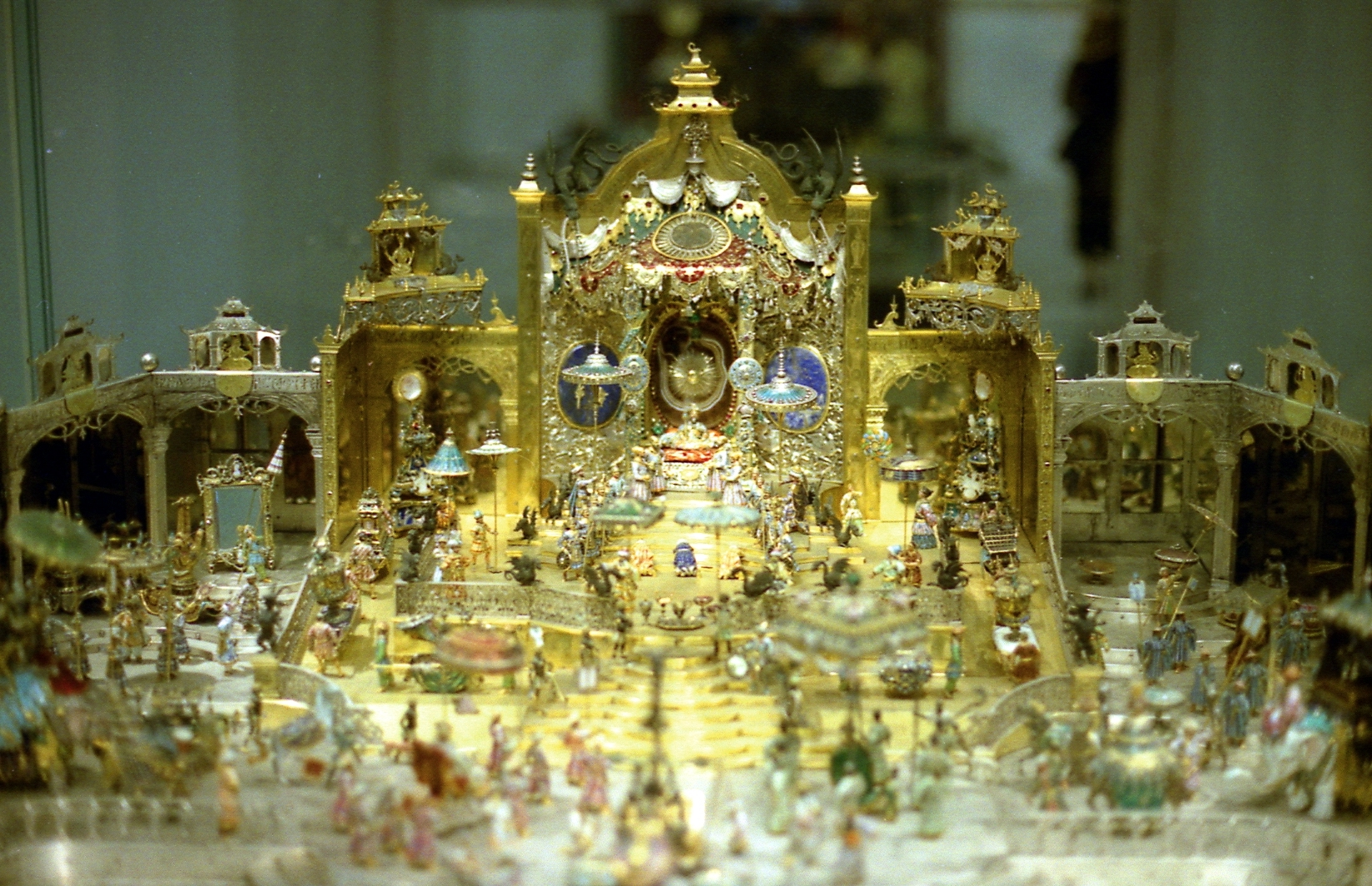 Hofstaat zu Delhi am Geburtstag des Großmoguls Aurangzeb, Johann Melchior Dinglinger (1701 bis 1708)