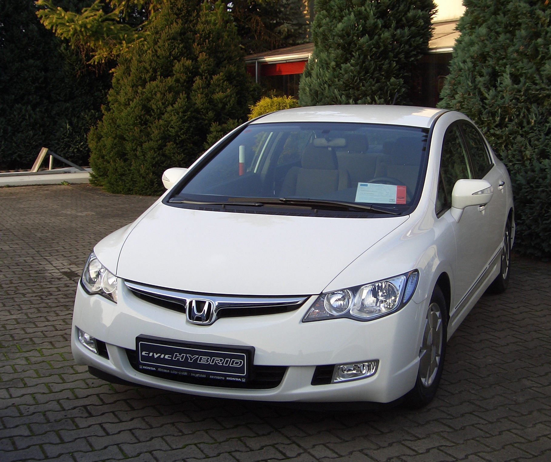 File Honda Civic Hybrid 2007 White Jpg Wikipedia