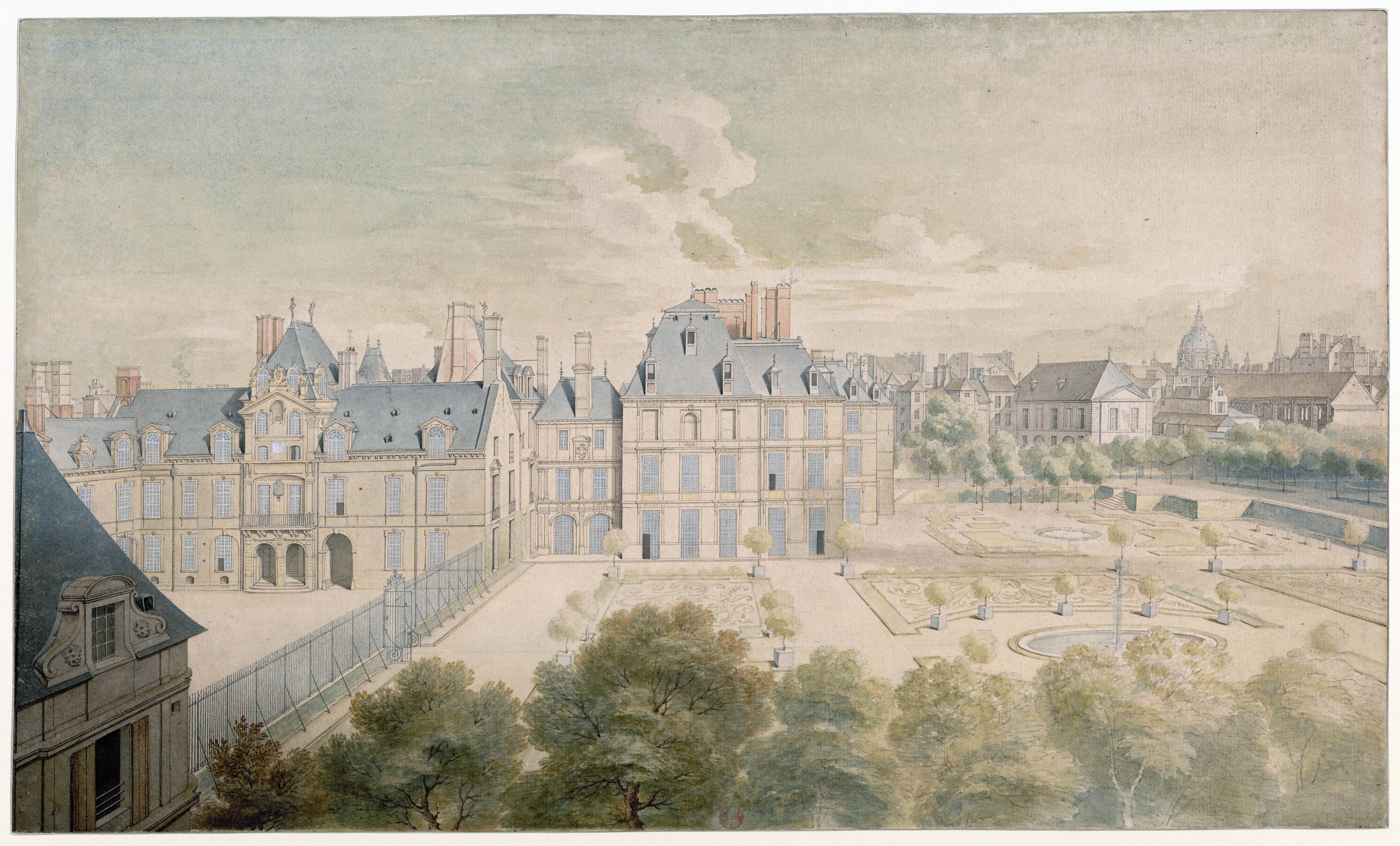 Hôtel de Condé, palacio de los príncipes de Condé, lugar de nacimiento de Sade en París.