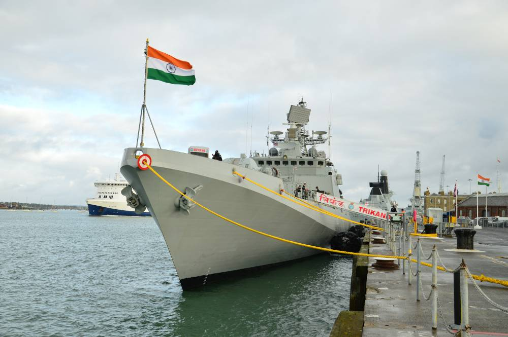 Image result for Indian Warship INS Trikand