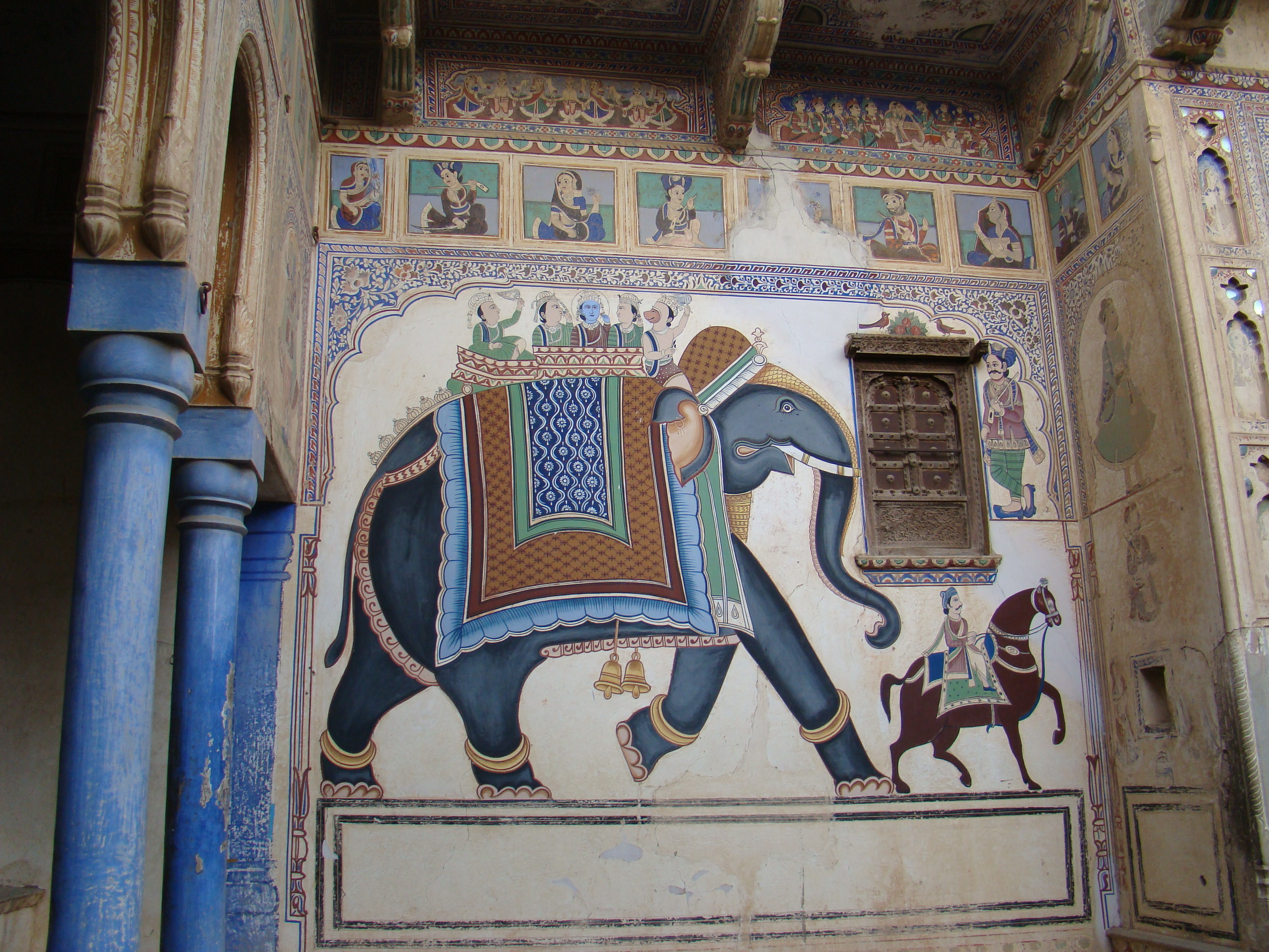 India Mandawa fuerte palacio 07 ni Wikimedia Commons
