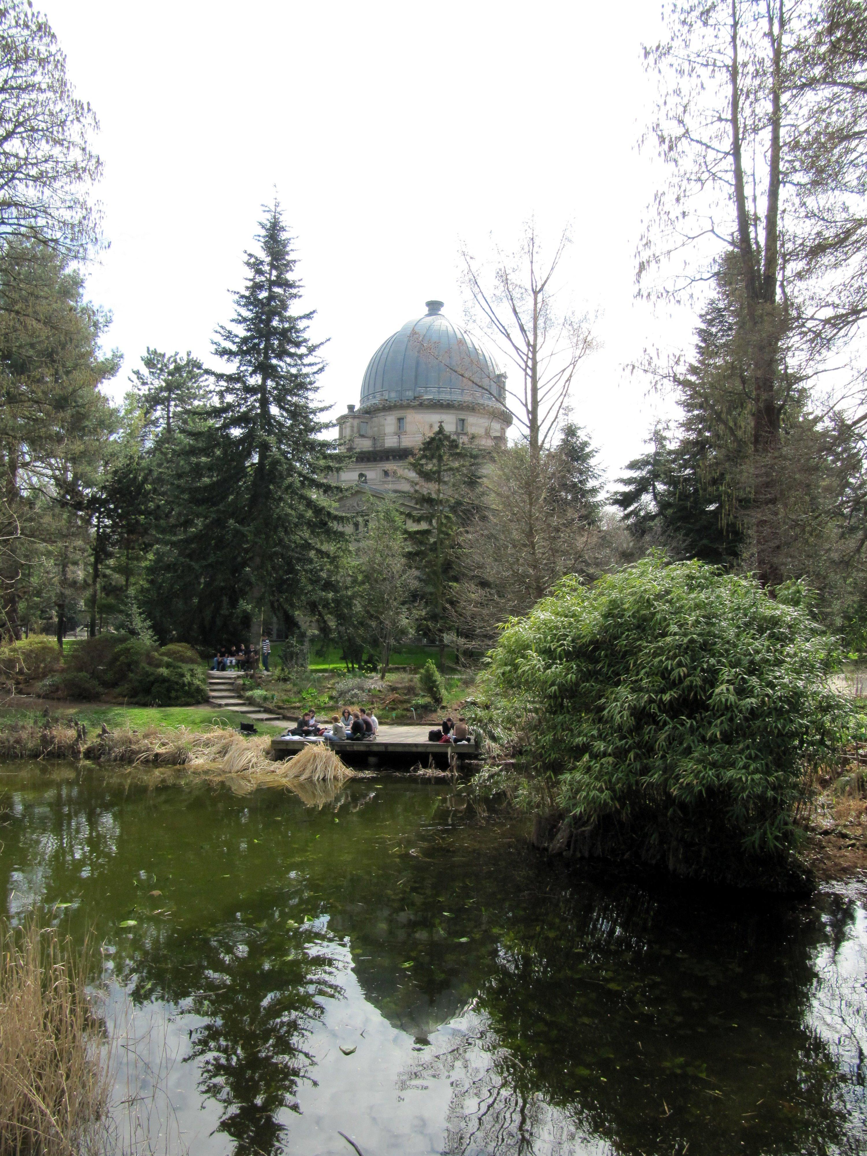 File Jardin botanique de Strasbourg étang et observatoire