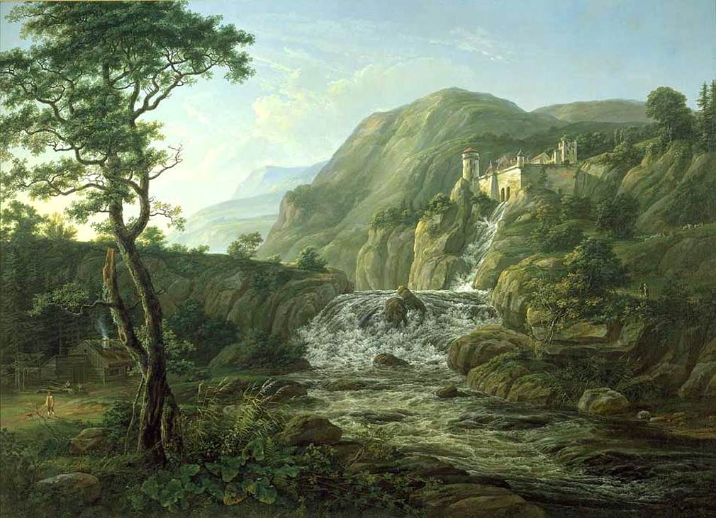 https://upload.wikimedia.org/wikipedia/commons/0/07/Johan_Christian_Claussen_Dahl_-_Mountain_Landscape_with_a_Castle_-_WGA05883.jpg