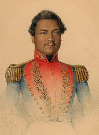 Descrizione Kamehameha III in military uniform.jpg