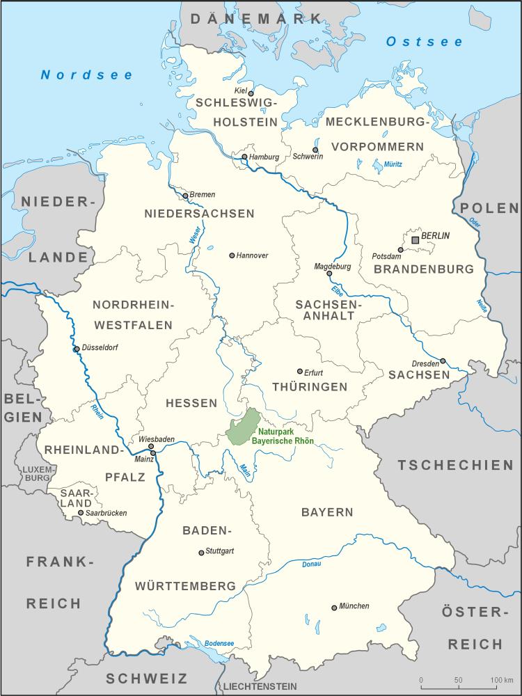 Dreiländereck Bayerischer Wald Karte.Naturpark Bayerische Rhön Wikipedia
