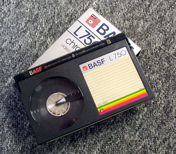 To those that don't remember, these are Betamax tapes